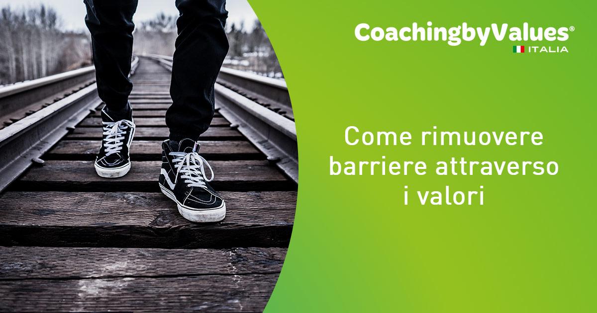 rimuovere barriere attraverso i valori