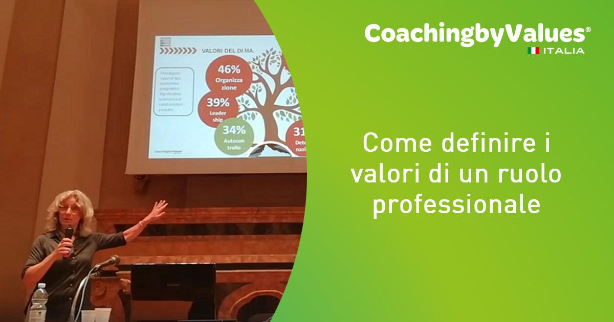 i valori di un ruolo professionale corso