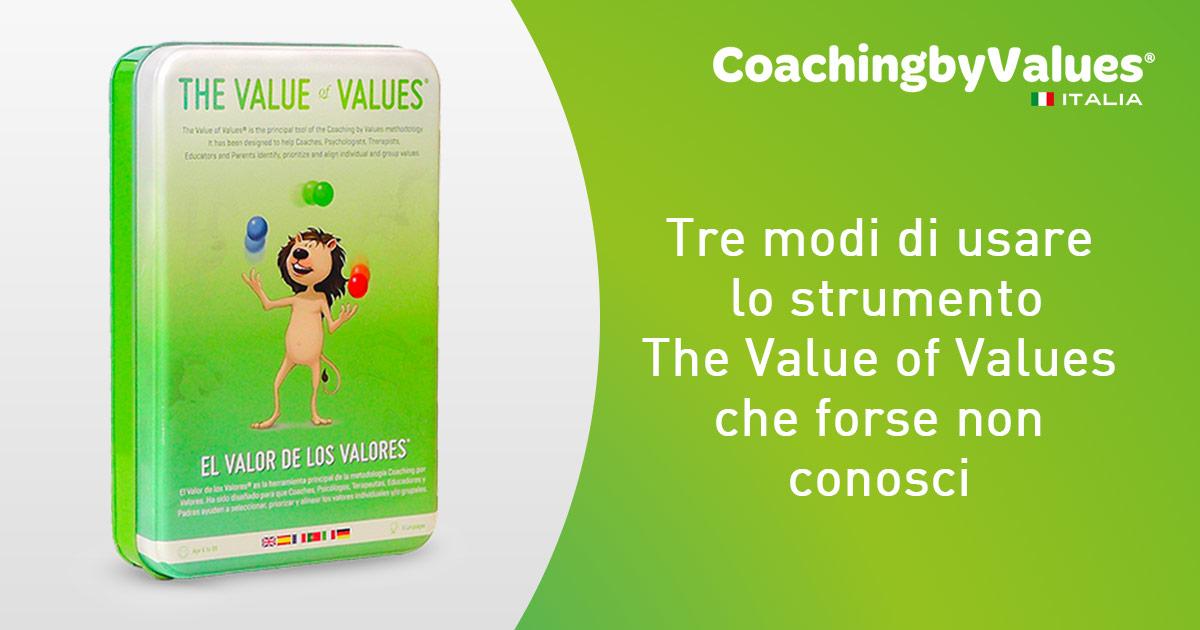 Usare il valore dei valori di Coaching by values